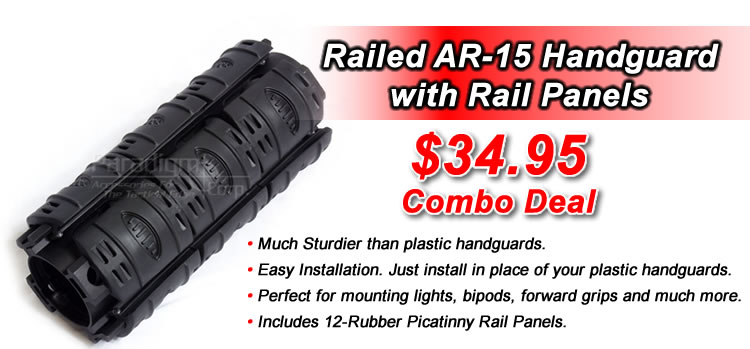 Field Sport Railed AR-15 Handguard with Rail Panels 34.95