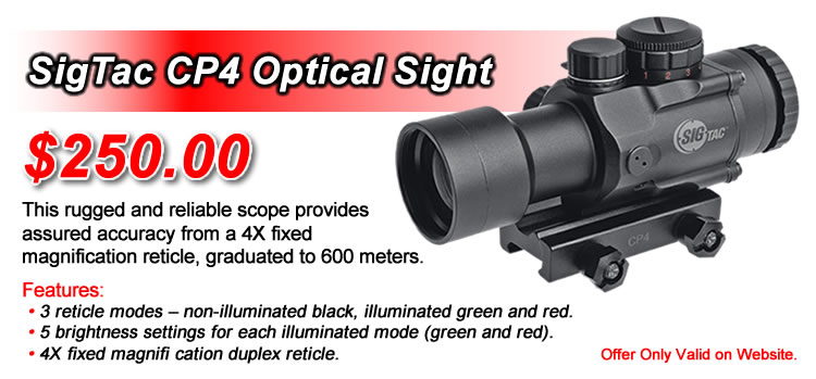 SigTac CP4 Optical Sight - optimal performance in the most extreme conditions. - $250.00