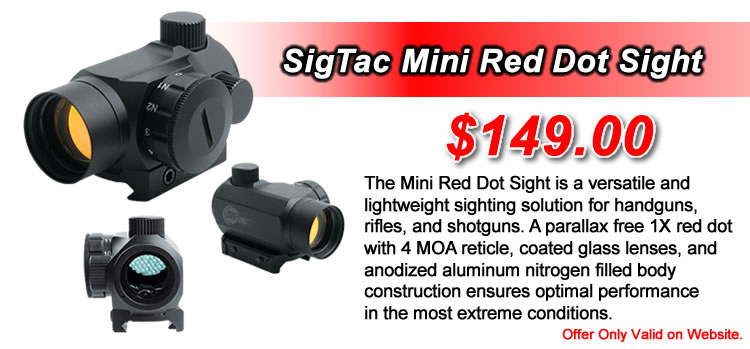 SigTac Mini Red Dot Sight - Optimal performance in the most extreme conditions. - $149.00