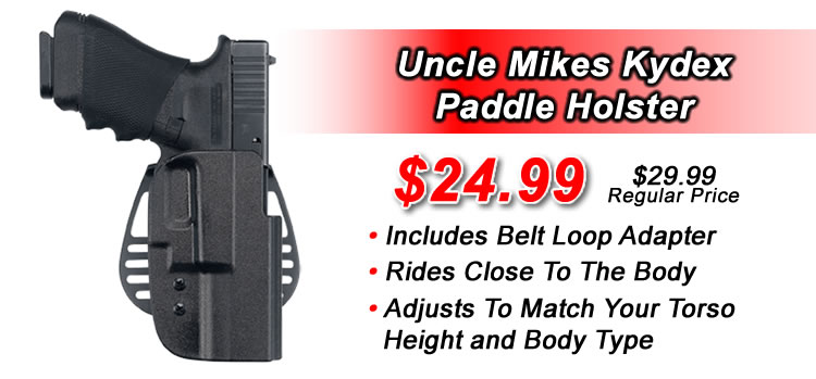 Uncle Mikes Kydex Paddle Holster with Belt Loop Adapter For Use As A Belt Holster 24.99